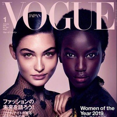 Grace Elizabeth & Anok Yai @ Vogue Japan January 2020