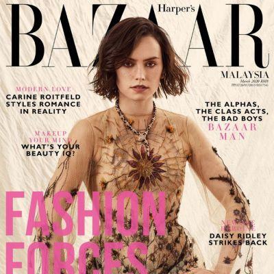 Daisy Ridley @ Harper's Bazaar Malaysia March 2020