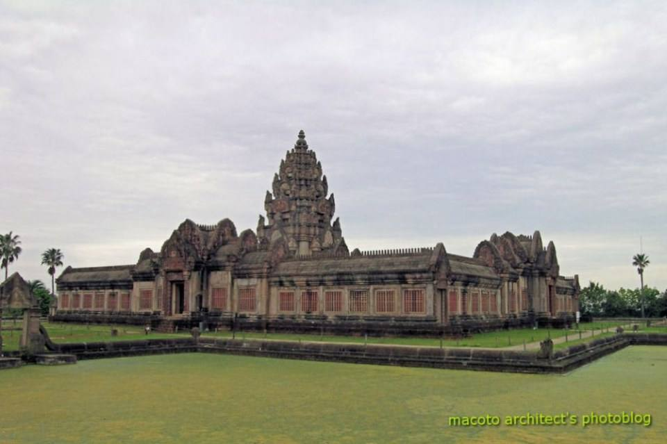 Angkor Dynasty's Temple  This Angkor dynasty styled temple was built by the hands of Thai master craftsmen after the original ancient temple in Thailand