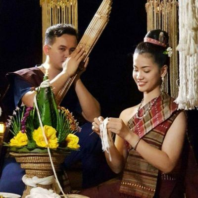THAILAND 🇹🇭 | ชุดพื้นเมืองอีสาน🌹 Isan traditional outfit at Wang Nam Mok Homestay, Nongkhai province