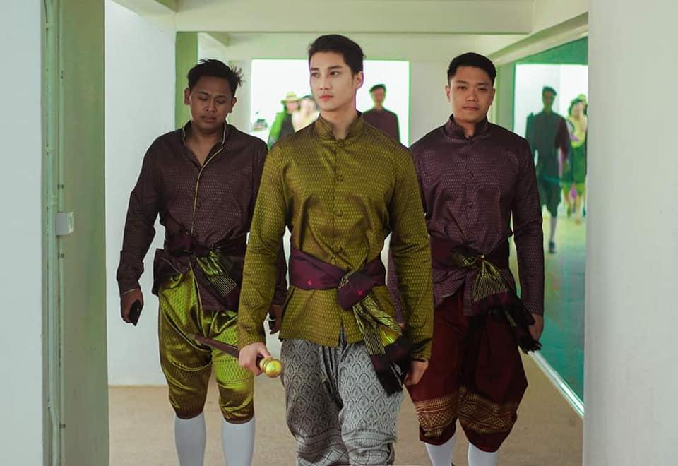 """""""Paing Takhon"""" Myanmar model in Thai traditional costume at  Muang Mallika, Kanchanaburi, Thailand"""
