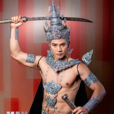 Thailand 🇹🇭   Thai traditional costume, ชุดประจำชาติ Man OF The World Thailand 2018
