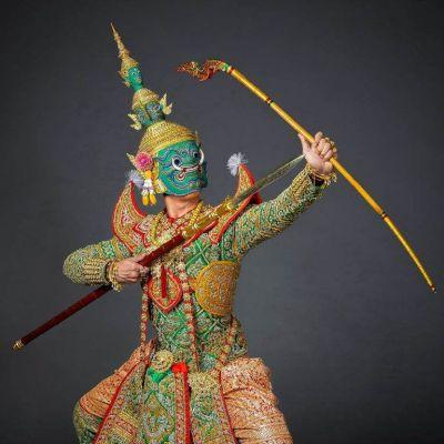 THAILAND 🇹🇭 |  Tossakan  or  Ravana  Thai dance: ลงสรงโทนทศกัณฐ์