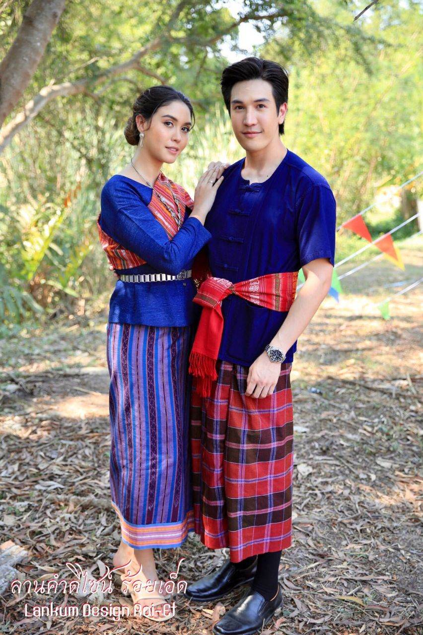 Traditional Wedding Costume in Northeastern, Thailand.