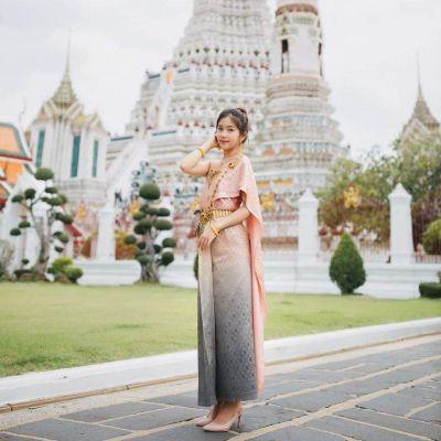 Sbai Thai dress: Thailand's national costume.ชุดไทยใครใส่ก็น่ารัก