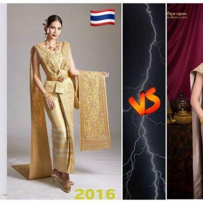 Thai copy Cambodia (Khmer) ใช่หรือไม่: Sbai Thai dress in Cambodia.