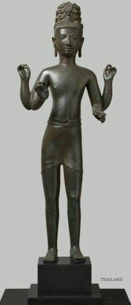 Bodhisattva Maitreya Prakhonchai art  8th century form Buriram province Northeastern Thailand.