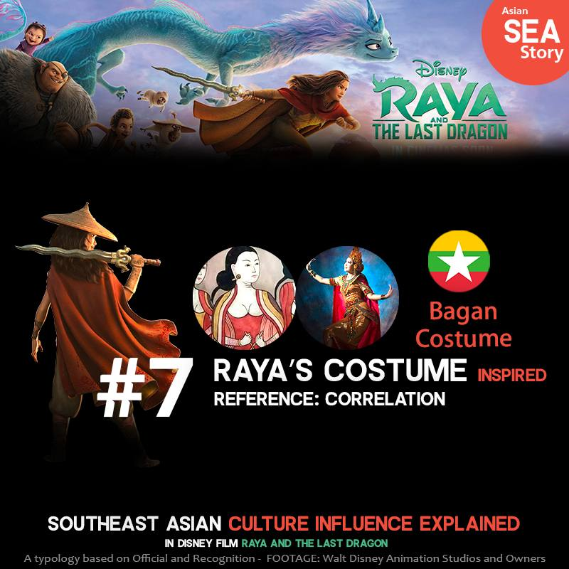 7.Raya's Costumes Inspired: Bagan Costume from Myanmar