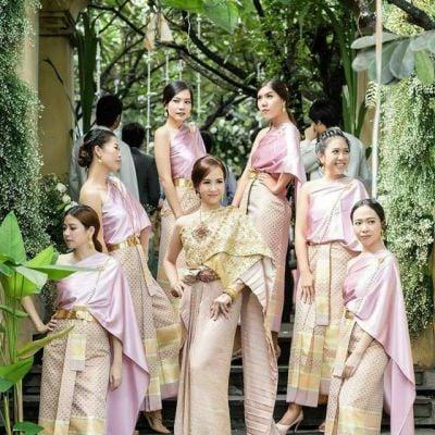🇹🇭Sbai Thai dress: Thailand's wedding costume.สุขสันต์วันวิวาห์ ชุดไทยใส่ยังไงก็สวย