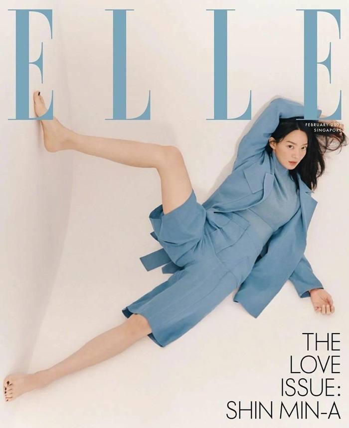 Shin Min A @ ELLE Singapore February 2021