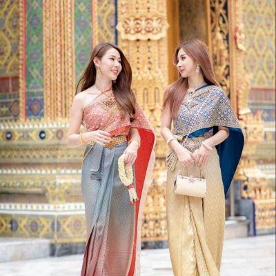 🇹🇭Thailand wedding costume : Sbai Thai dress : สาวๆๆน่ารักในชุดไทย