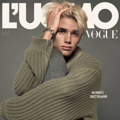 Romeo Beckham @ L'Uomo Vogue February 2021