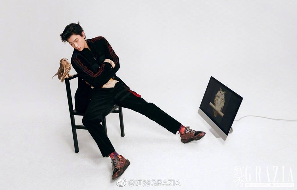 Ding Yuxi @ Grazia China January 2021