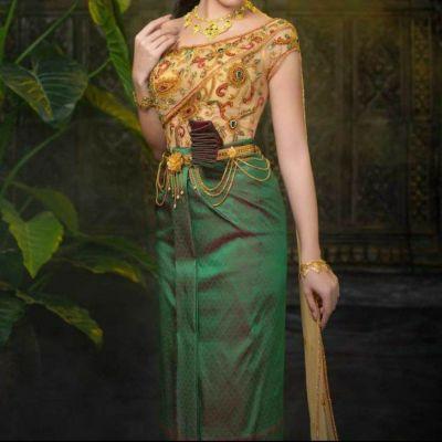 Khmer wedding costume : 🇹🇭ชุดไทยโดยนางแบบชาวกัมพูชาที่สวยงาม