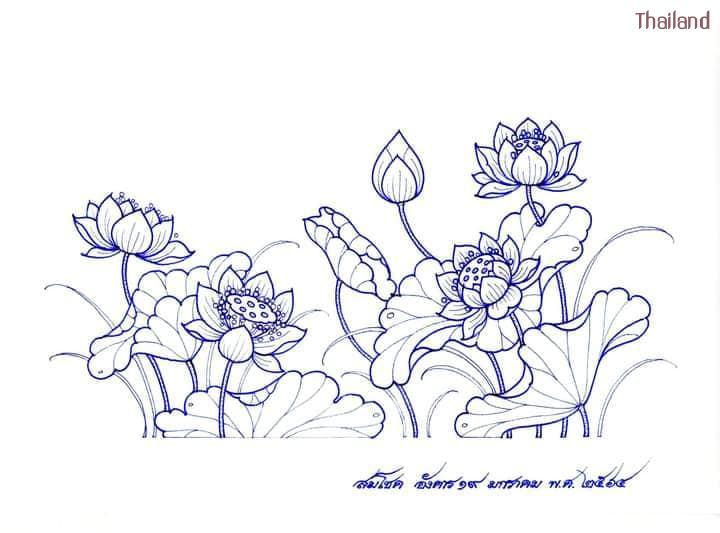 "Thai Line Art ""ลายไทย"" ©credit: สมโชค สินนุกูล   THAILAND 🇹🇭"