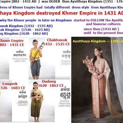 Sbai Cambodia:The history of sbai Cambodia (Khmer) ความเป็นมาวิวัฒนาการการแต่งกายแบบไทยในกัมพูชา
