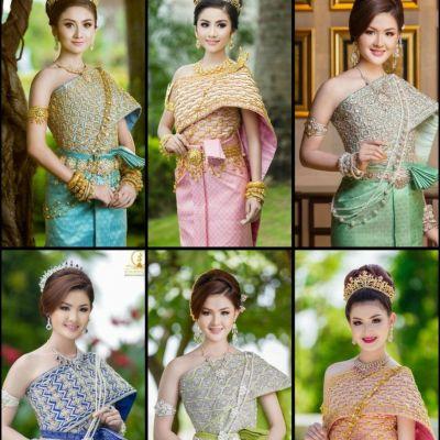 Cambodia wedding costume : ชุดวิวาห์แบบไทยสวยๆโดยเจ้าสาวน่ารักชาวเขมร♥️: Khmer wedding dress ♥️♥️