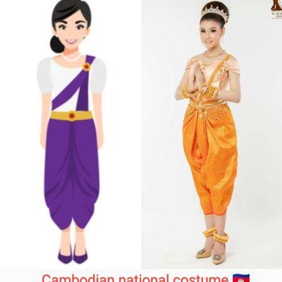 Cambodian national costume :🇰🇭Khmer wedding dress :Traditional Cambodian costume♥️♥️