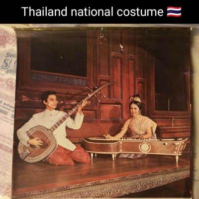 Thailand national costume 🇹🇭 ปฏิทินชุดไทย เมื่อปี 2515 (1972) สวยงามตามยุคสมัย:Traditional Thailand dress.