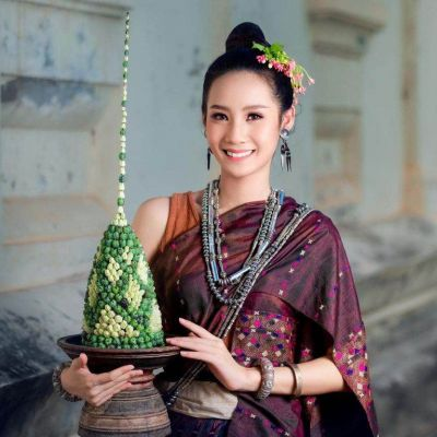Laos 🇱🇦   ປະເພີຮີດຄອງເດືອນສິບເພັງ ບຸນຫໍ່ເຂົ້າສລາກ(ສະຫຼາກ)