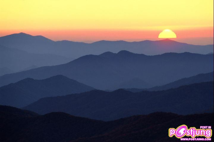 Great Smoky Mountains at Sunset, Tenness
