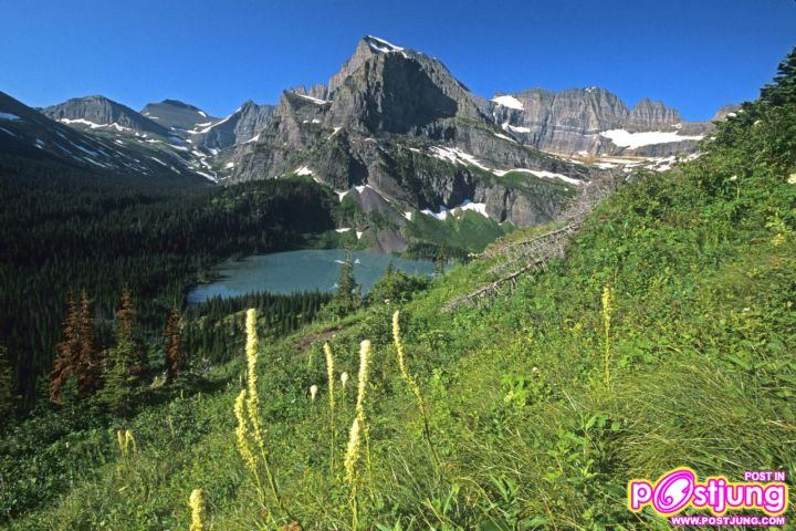 Grinnell Lake and Mount Gould, Glacier N