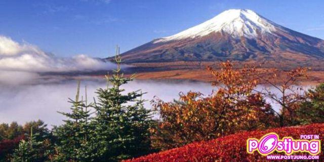 ภาพภูเขาฟูจิ ในฤดูใบไม้ร่วง