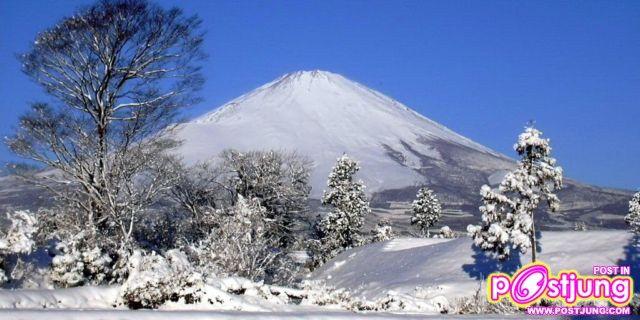 ภาพภูเขาฟูจิ ในฤดูหนาว