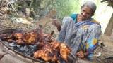 ยายอินเดีย โชว์เมนู   ไก่ย่างหมักเครื่องเทศ   สไตล์อินเดีย