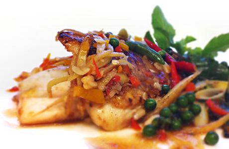 ผัดฉ่าปลาทับทิม