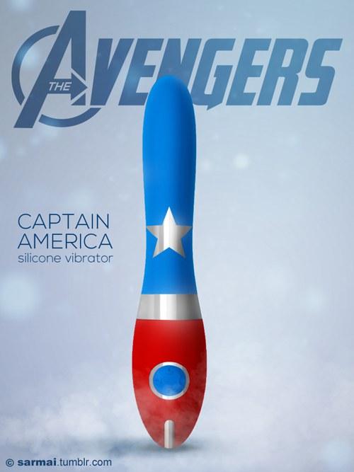 รูป Captain America silicon vibrator.jpg