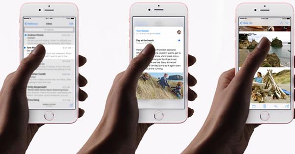 หน้าจอระบบมัลติทัชรุ่นใหม่ 3D Touch ของ ไอโฟน 6s และ ไอโฟน 6s Plus